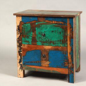 noptiera lemn reciclat