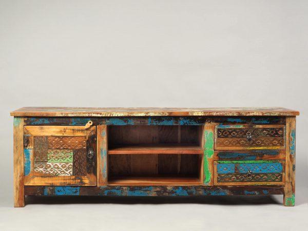 comoda TV lemn reciclat stil oriental Agnes