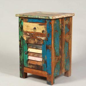 noptiera stil exotic lemn reciclat
