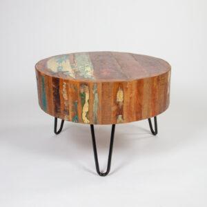 Masuta de cafea rotunda lemn masiv