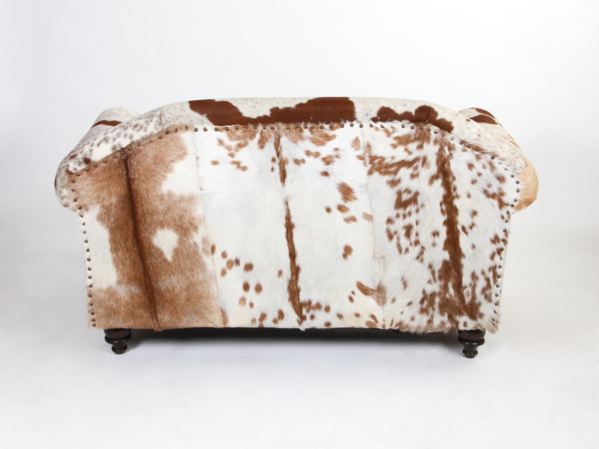 Canapea piele naturala 2 locuri vedere din spate