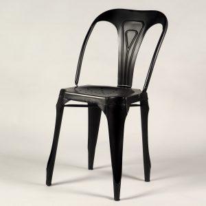scaun bar metalic negru vintage