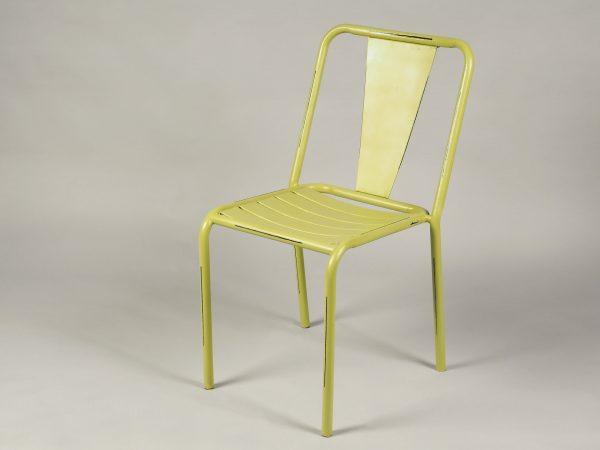 scaun bar metalic verde