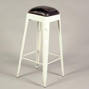 scaun bar inalt metal piele
