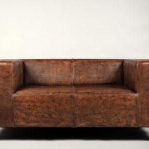 canapea piele stil art deco