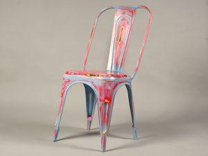 scaun bar metalic vintage