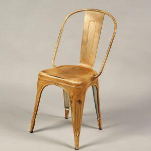 scaun bar metalic vintage auriu