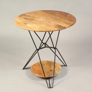 masuta cafea minimalista metal lemn mango