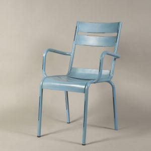 scaun bar metalic vintage bleu