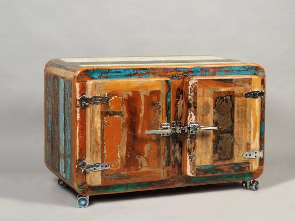 comoda lemn reciclat retro