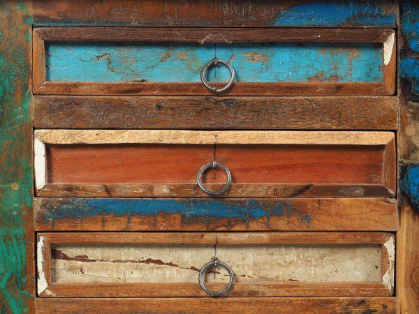 comoda lemn reciclat India sertare