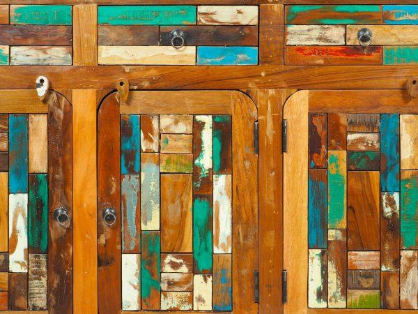 dulap lemn reciclat mozaic India