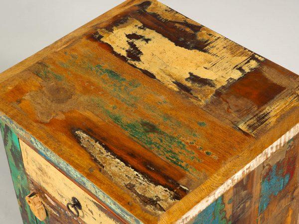 noptiera lemn reciclat produsaâ manual