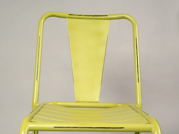 scaun bar metal verde vintage
