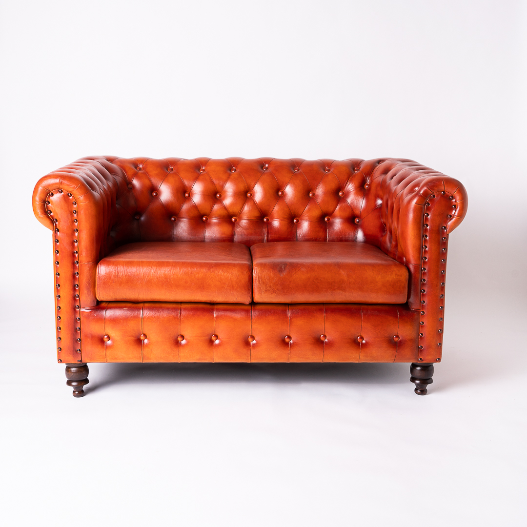 Canapea piele Chesterfield front