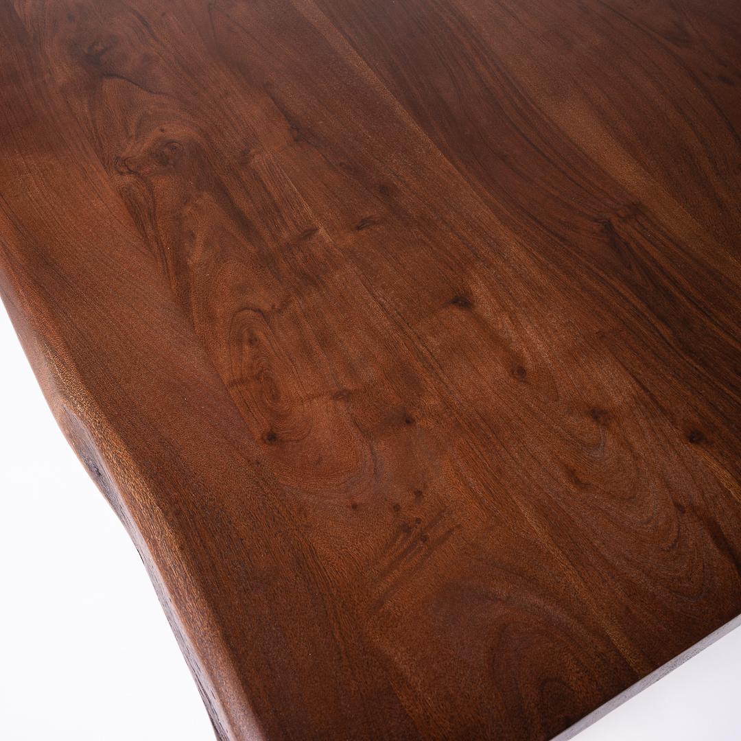 Masa lemn masiv Raja top view detaliu blat