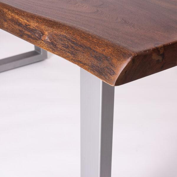 masa lemn masiv Jaipur detaliu colt 3d