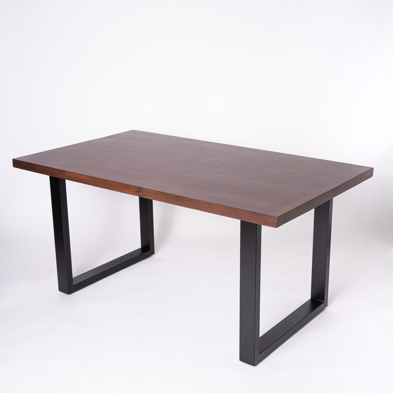 Masa Dining din lemn masiv Satara vedere 3D